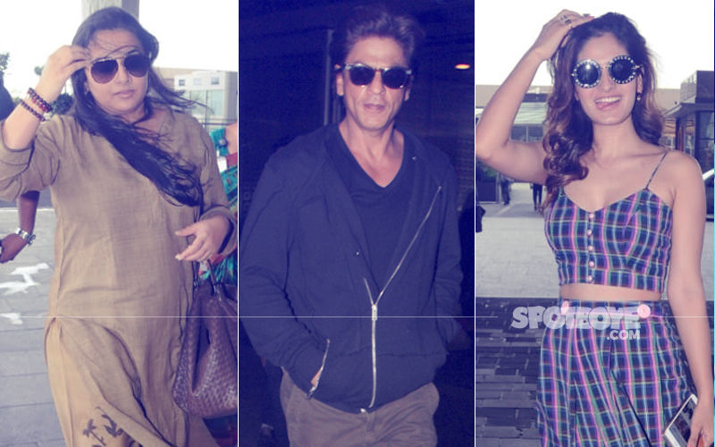 Shah Rukh Khan, Vidya Balan, Karishma Sharma Keep It Stylish At The Airport
