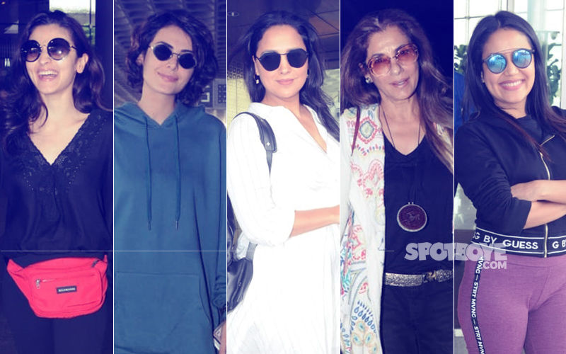 Airport Diaries: Alia Bhatt, Mandana Karimi, Lara Dutta, Dimple Kapadia & Neha Kakkar Keep It Stylish