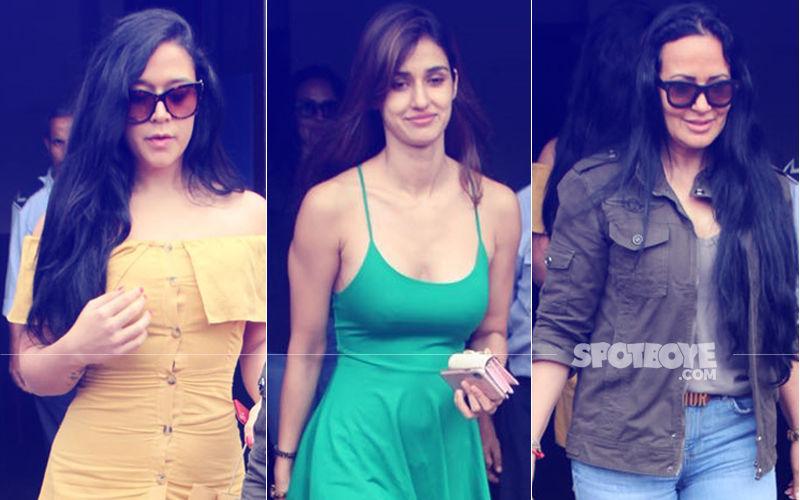 Disha Patani Spends Sunday Afternoon With Krishna & Ayesha Shroff