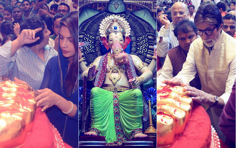 Ganesh Chaturthi 2018: Priyanka Chopra To Amitabh Bachchan - Bollywood Celebs Who Are A Regular At Lalbaugcha Raja