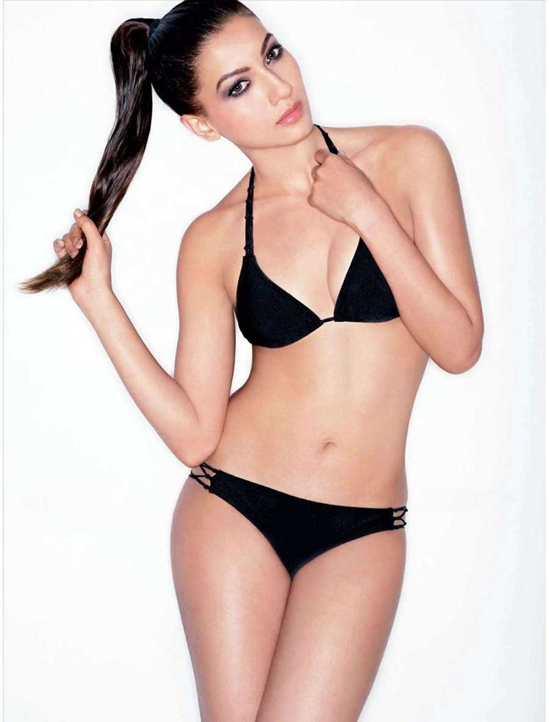 gauahar khan sports a bikini