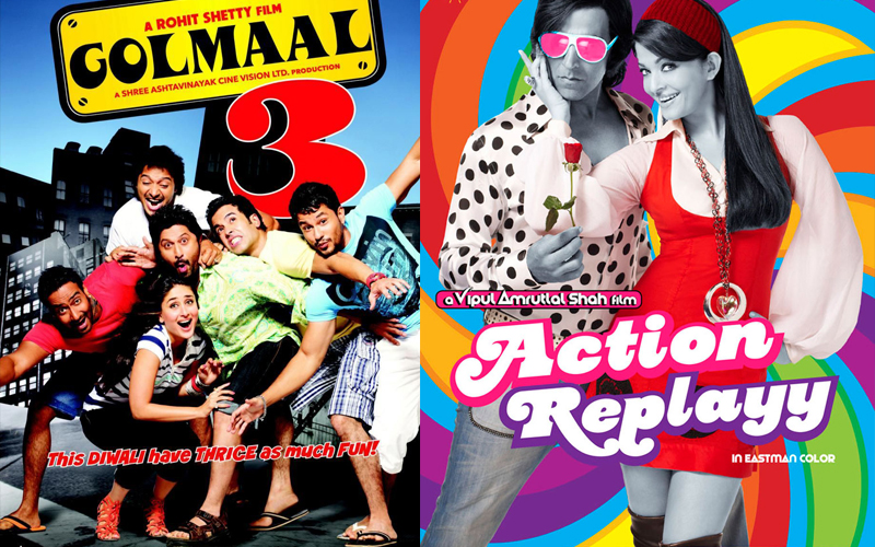 golmaal 3 and action replay