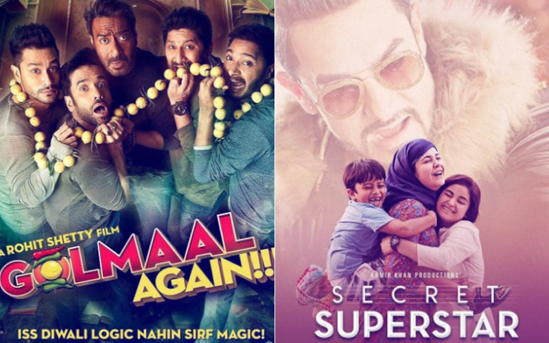 DIWALI SPECIAL: Golmaal Vs Secret Superstar...& Here Are 10 More Big Box-Office Clashes