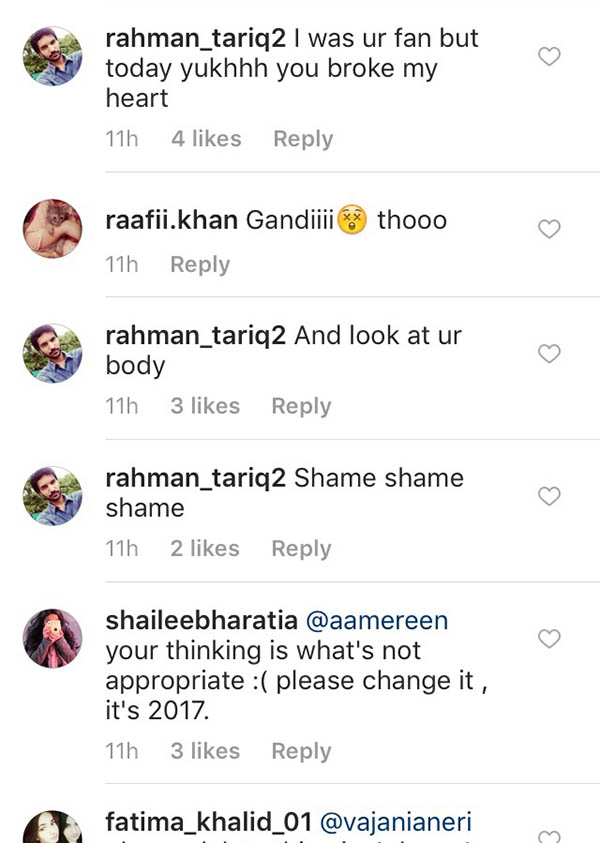 grabs of public trolling beyhadh actress vajani aneri on instagram