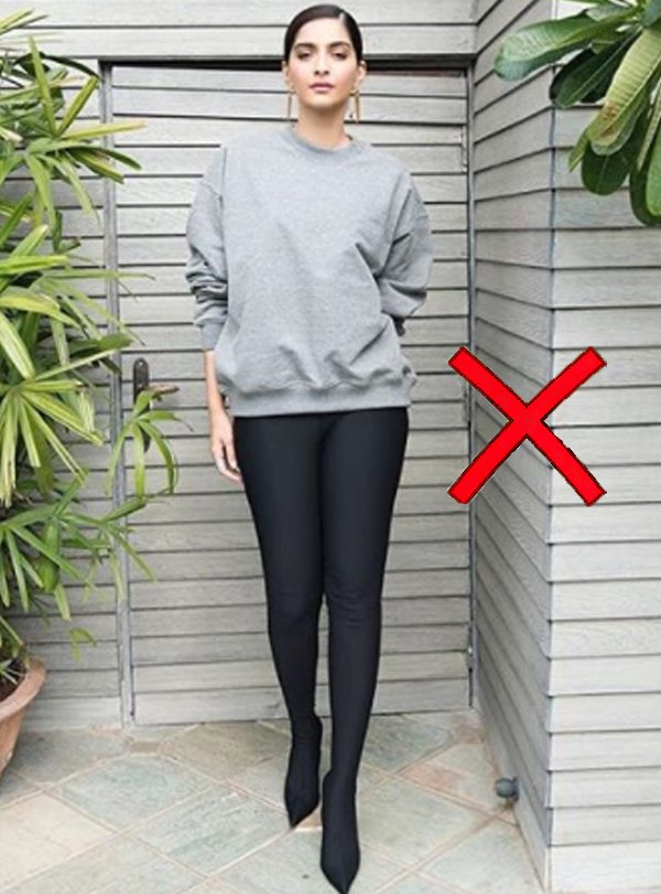 sonam kapoor in grey sweatshirt