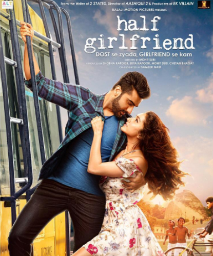 half girlfriend poster featuring shraddha and arjun