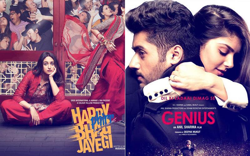 Happy Phirr Bhag Jayegi, Genius; Box-Office Collection, Day 1: Sonakshi Sinha Runs Slowly But Uttkarsh Sharma Is A Non-Starter