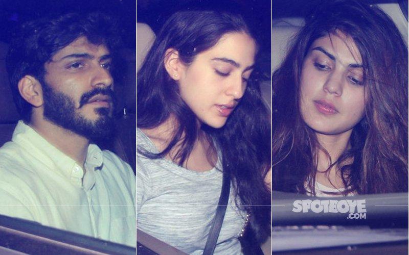 Harshvardhan Kapoor Parties With Sara Ali Khan At Kareena Kapoor's Home, Rhea Chakraborty Joins In!