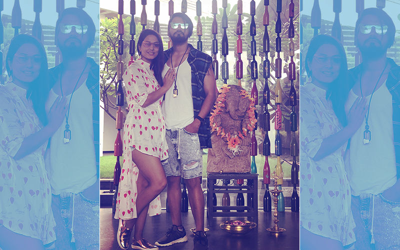 Hina Khan-Rocky Jaiswal Get Trolled For Wearing Shoes & Posing In Front Of Ganesha Idol