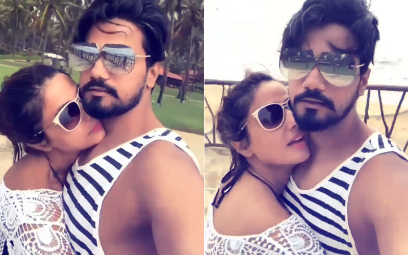 Arm Around Boyfriend, Watch Hina Khan Getting All Romantic In Goa...