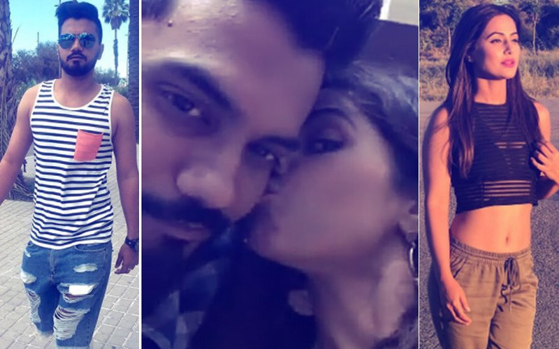 7 Romantic Pics Of Hina Khan & Boyfriend Rocky Jaiswal's Public Display Of Affection