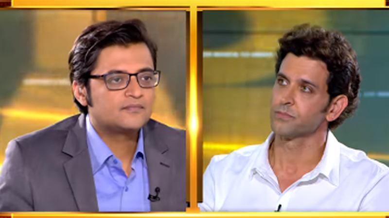 hrithik roshan on arnab goswanis show