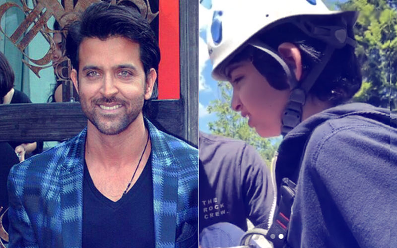 Video: Hrithik Roshan Motivates A Scared Hredaan To Overcome Fear Of An Adventure Sport