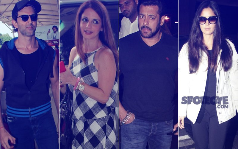 PICS: Hrithik Roshan Is Off To Goa With Sussanne Khan; Salman Khan & Katrina Kaif Leave For Greece