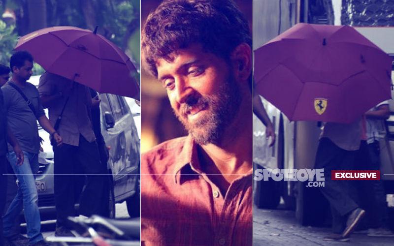 Hrithik Roshan Hides Under Umbrella Despite No Rain. Here's Why