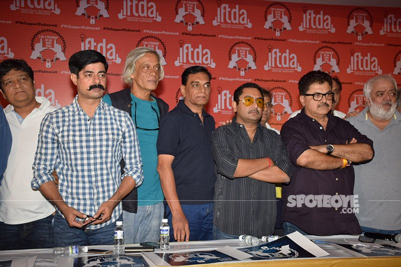 iftda press conference in support of padmavati maker sanjay leela bhansali