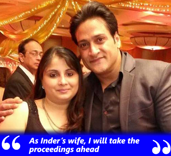 inder kumar with wife pallavi