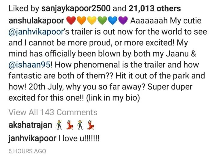 Janhvi Kapoor Replies I Love You