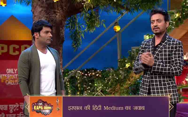 irrfan and kapil in the kapil sharma show