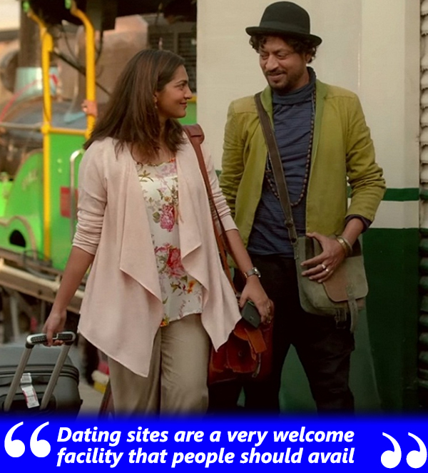 irrfan khan and parvathy menon in qarib qarib singlle