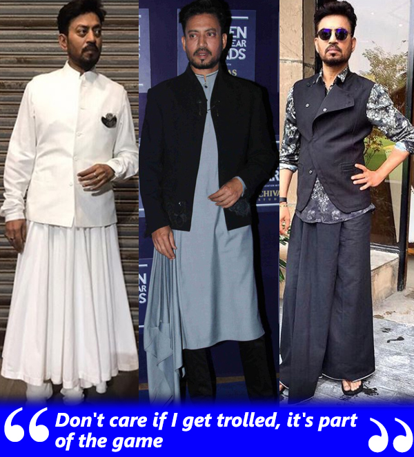irrfan khan decked up in dress avatars
