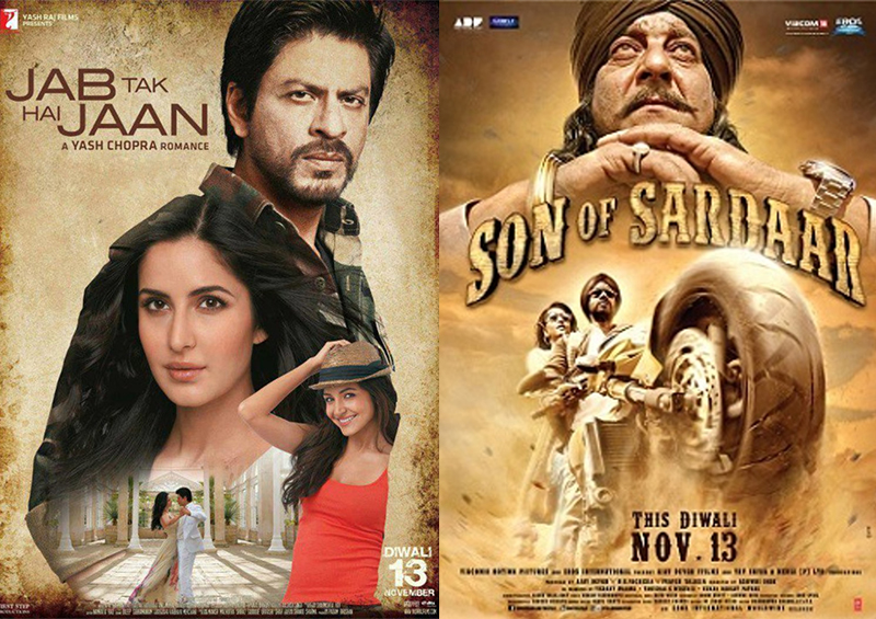 jab tak hai jaan and son of sardar poster