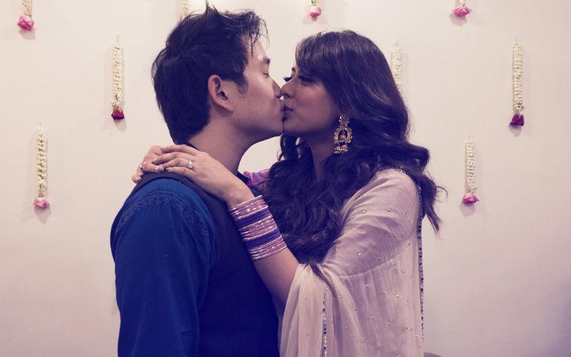 Happy Phirr Bhag Jayegi's Jason Tham Seals His Engagement To Girlfriend Deeksha Kanwal With A Passionate Kiss