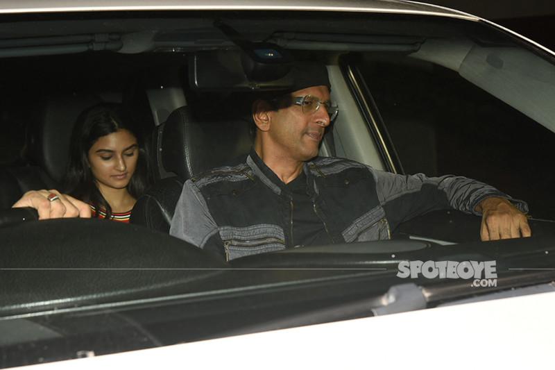 javed jaffery with daughter snapped at sanju screening