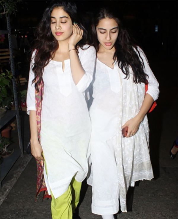 jhanvi kapoor and sara ali khan
