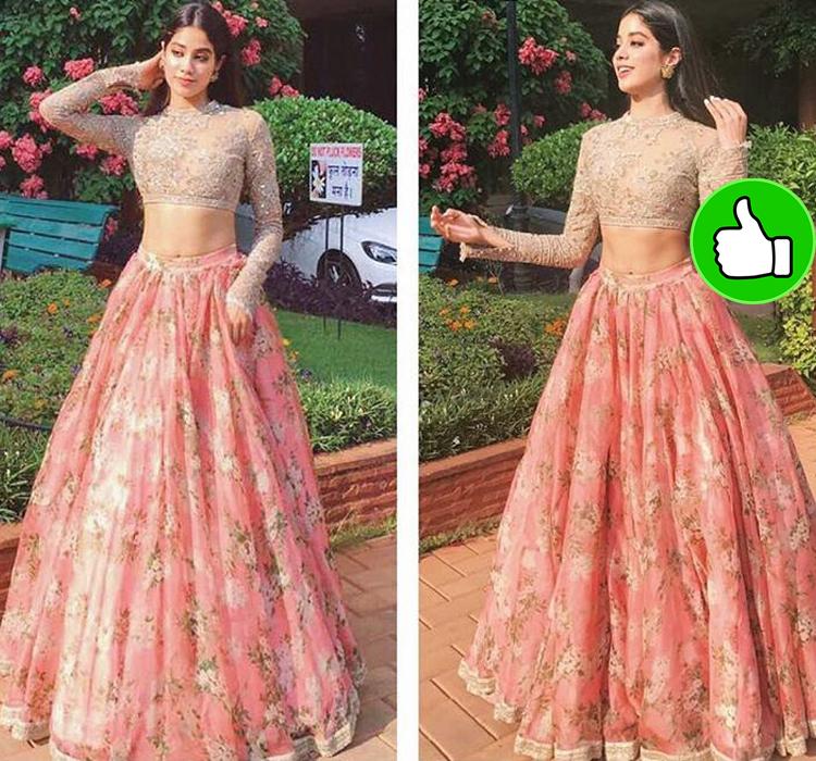 jhanvi kapoor in her tradinal avatar looking so pretty