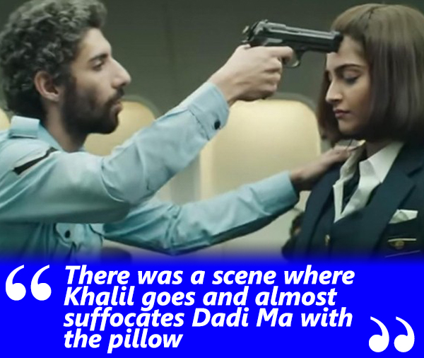 jim sarbh and sonam kapoor in a still from neerja