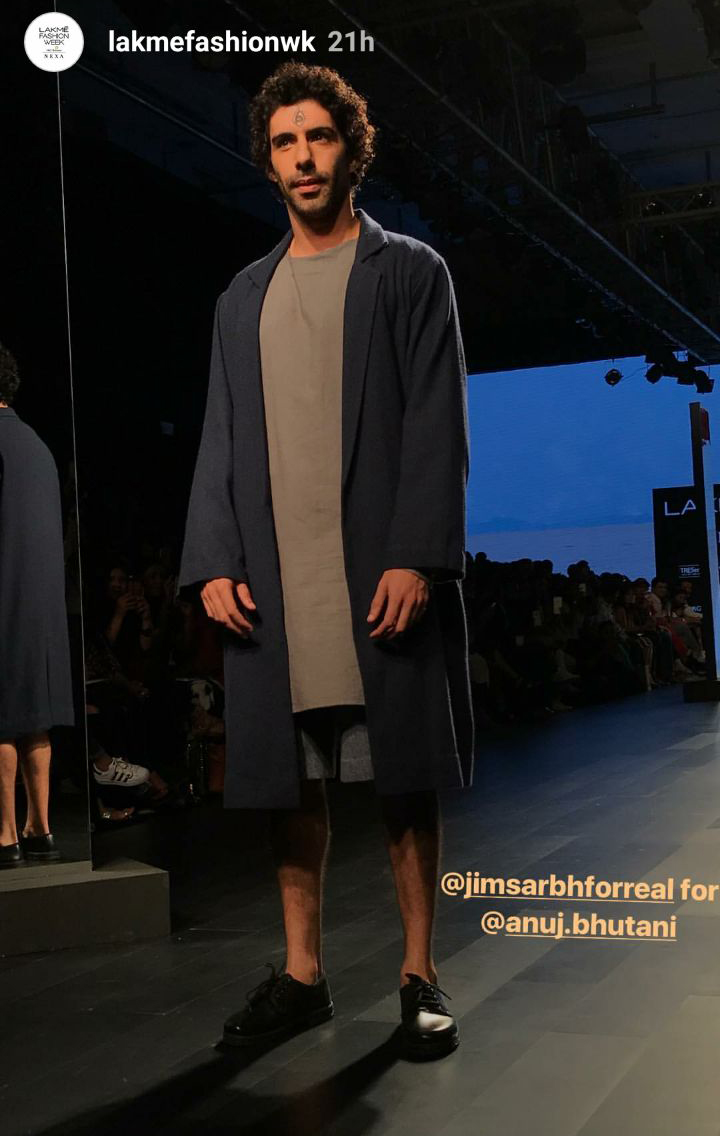 jim sarbh at lakme fashion week