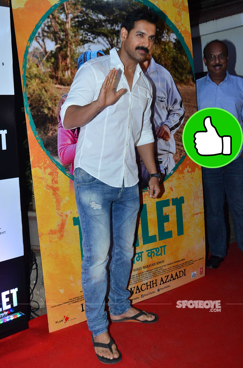 john abraham at the toilet screening
