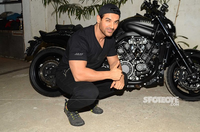 john abraham poses for a photoshoot