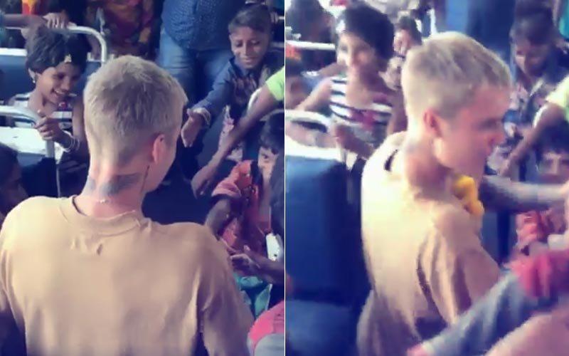 VIDEO ALERT: Justin Bieber Spends Time With Underprivileged Kids In Mumbai