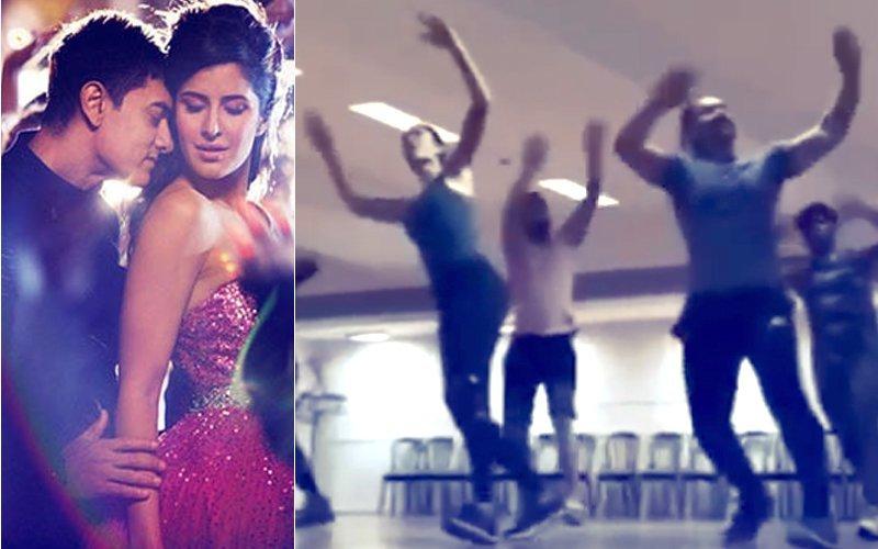 Video: 'ठग्स ऑफ़ हिंदोस्तान' के गाने पर कदम से कदम मिलाते नज़र आए आमिर खान और कैटरीना कैफ