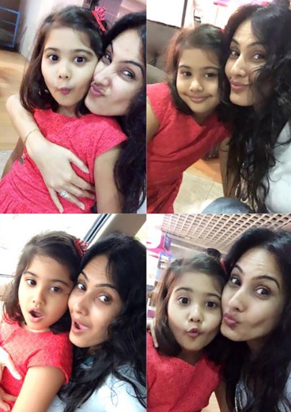kamya punjabi poses with her daughter aara