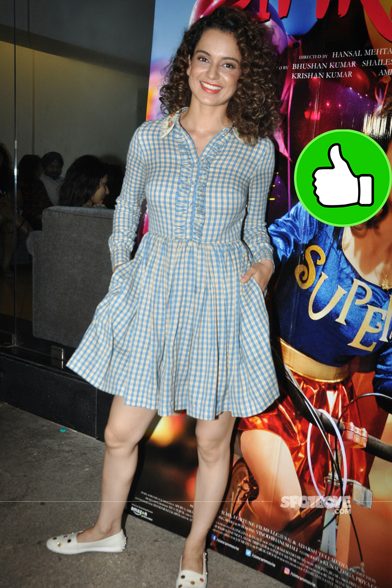 kangana ranaut at simran screening