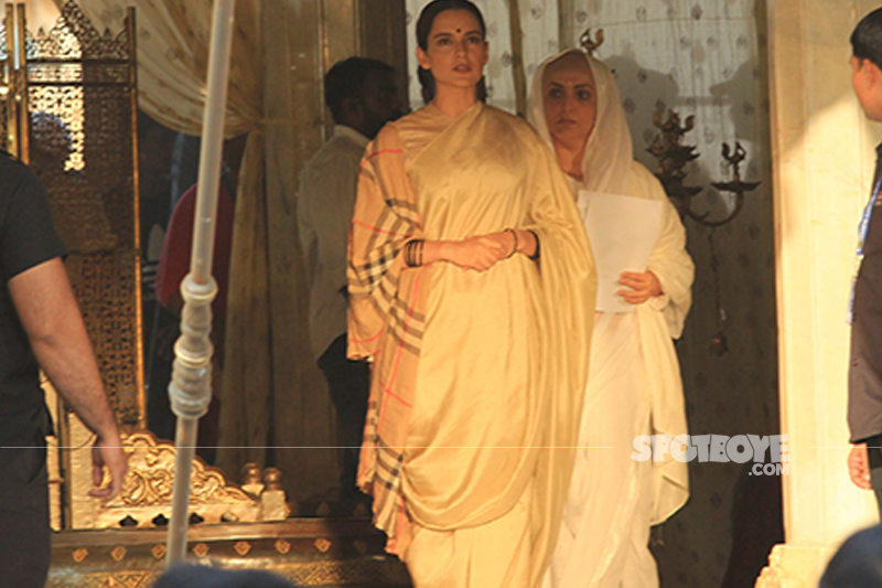 kangana ranaut at the sets of manikarnika
