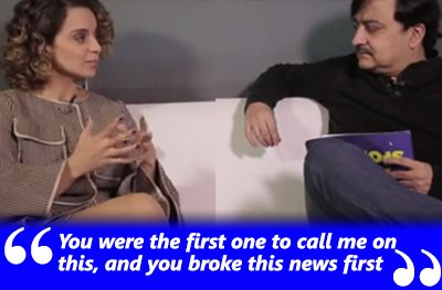 kangana ranaut exclusive interview with vickey lalwani you were the first to break the news