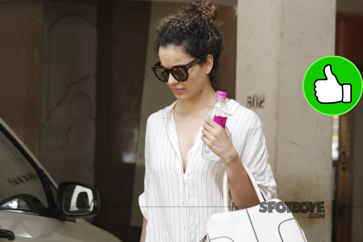 kangana ranaut snapped outside a skin clinic