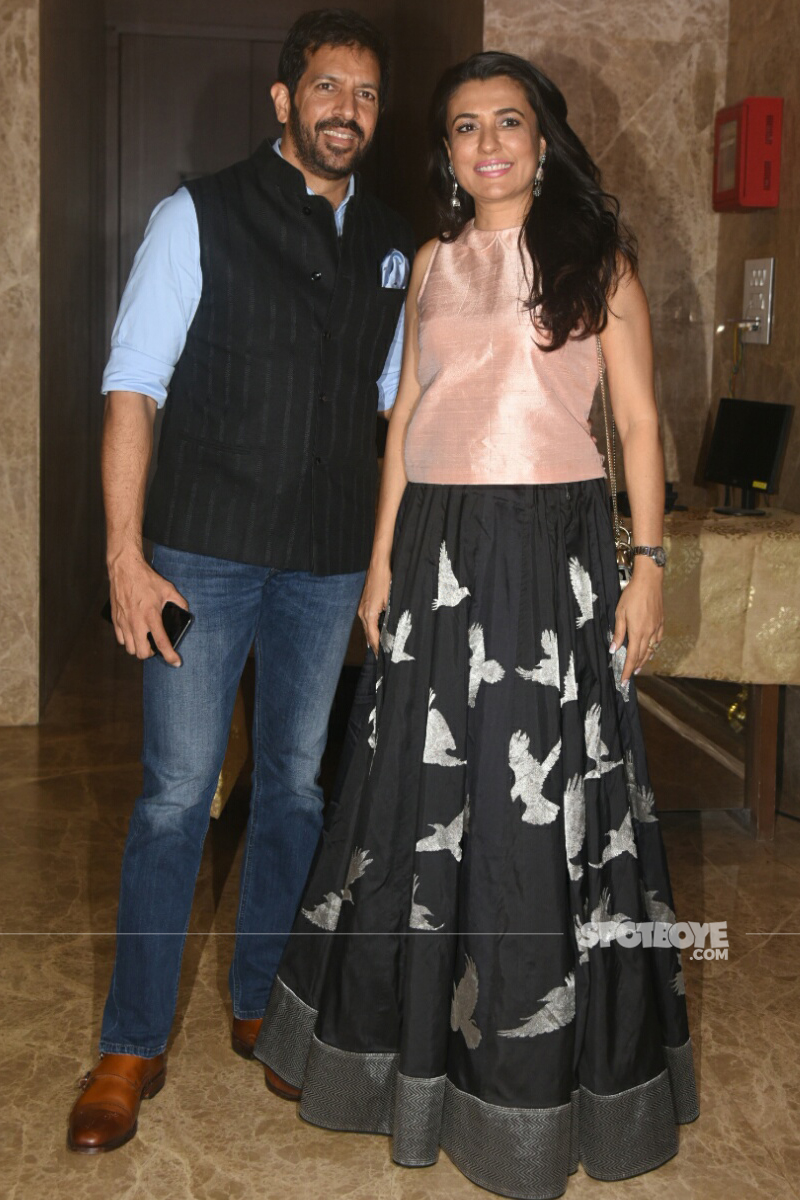 kanir khan with wife mini mathur at ramesh taurani diwali bash
