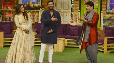 Kapil Sharma With Ajay Devgun