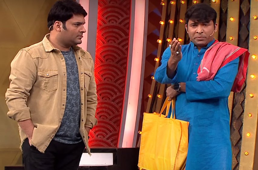 kapil sharma and chandan prabhakar in family time with kapil sharma