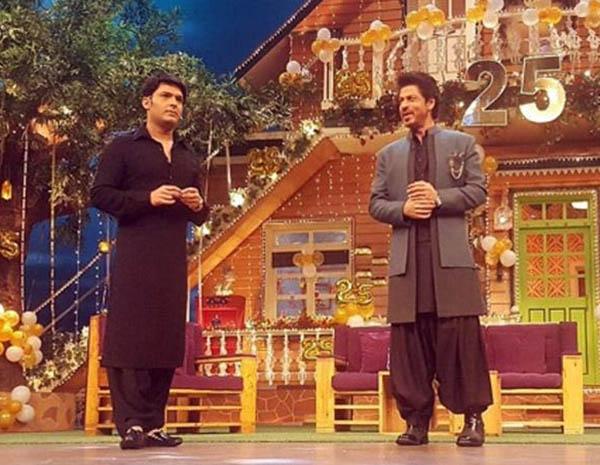 kapil sharma and shah rukh khan on the kapil sharma show