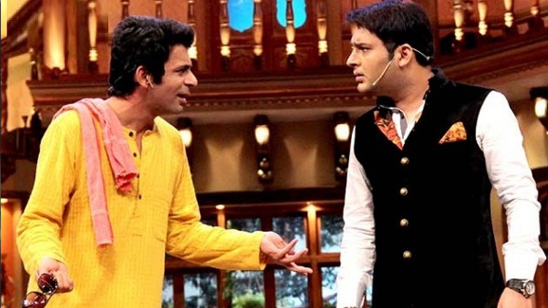 kapil sharma and sunil grover fight during the show