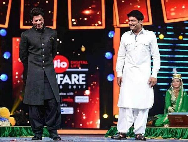 kapil sharma rehearse a qawwali sequence with shah rukh khan in filmfare awards