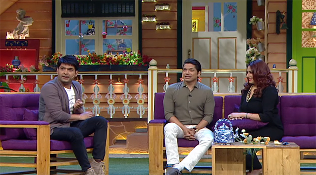 shaan and his wife radhika on the kapil sharma show