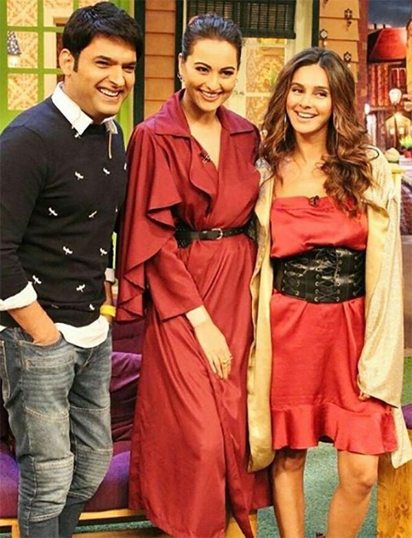 kapil sharma sonakshi sinha and shibani promoting noor