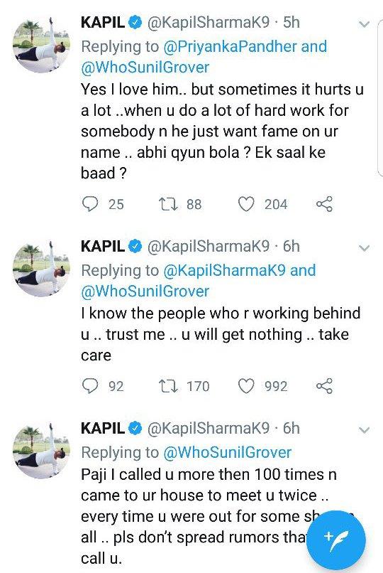 kapil sharma tweets about sunil grover